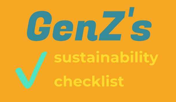 GENZ Sustainability Checklist [INFOGRAPHIC]